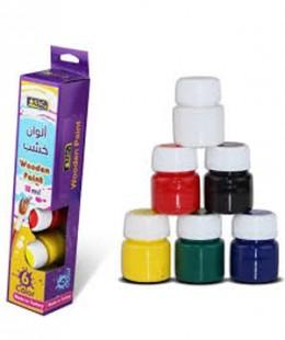 ألوان خشب 15 مل  6 لون