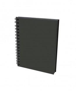 دفتر رسم ورق اسود سلك مقاس طول 31 سم × عرض 33سم