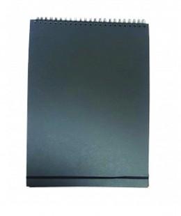 دفتر رسم ورق اسود سلك مقاس طول 43 سم × عرض 30 سم