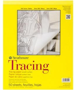 كراسة رسم  ستراثمور تريسينج 300 ورق شفاف   50 ورقة مقاس عرض 27.9 سم طول 35.6 س